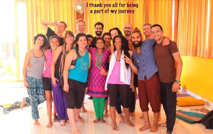 Ashtanga Yoga Retreat group.