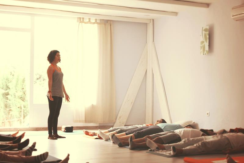 Savasana in a Lucia Yoga retreat
