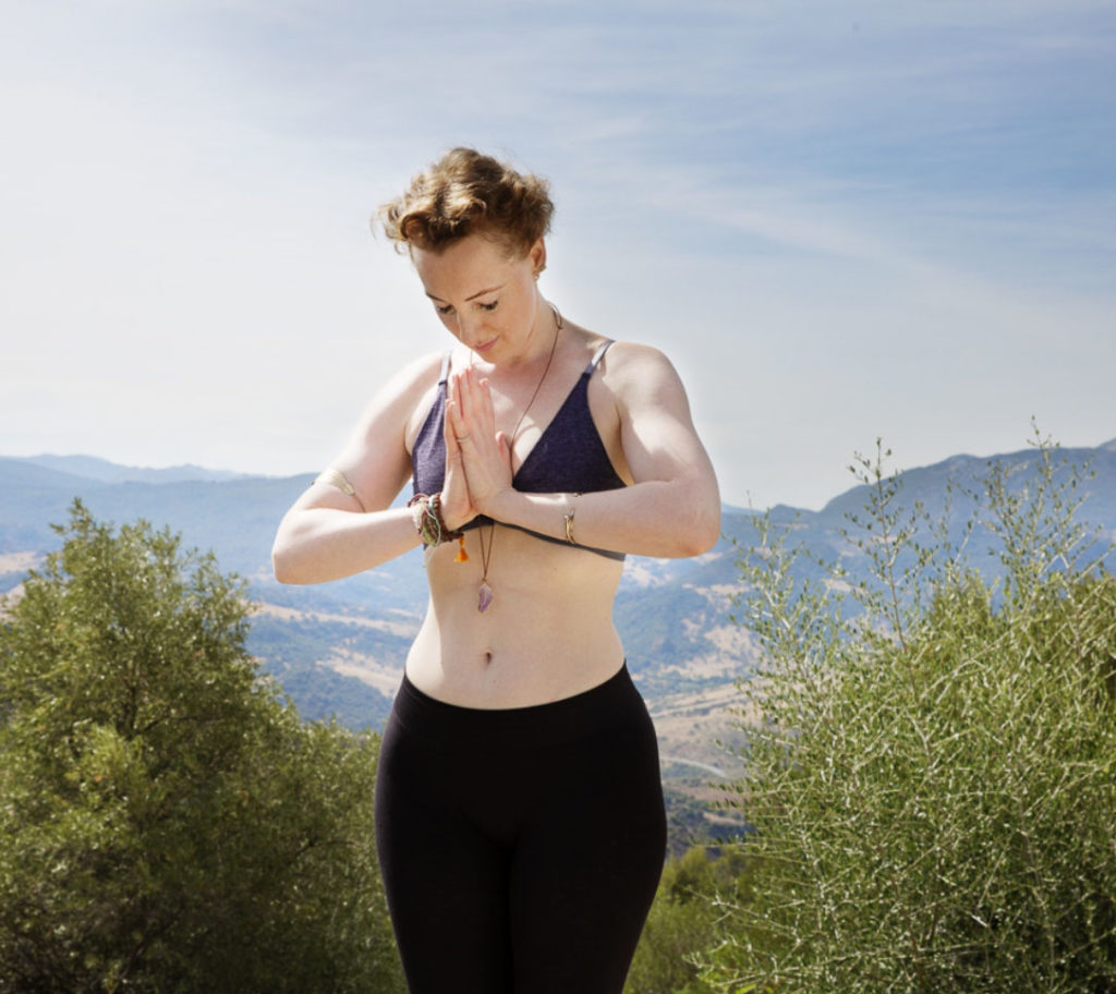 Nature Yoga meditation pose