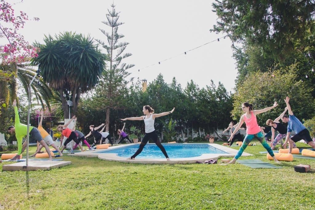 Malaga pool yoga 1