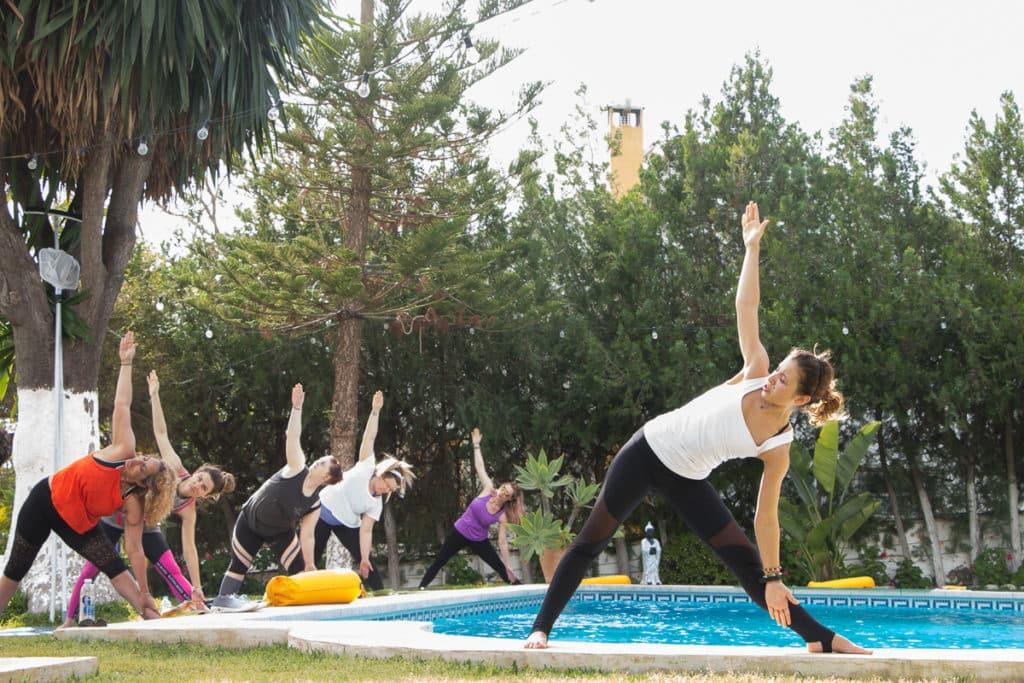 Malaga pool yoga 2